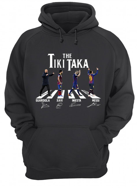 Barcelona The Tiki Taka Abbey Road Signature Unisex Hoodie