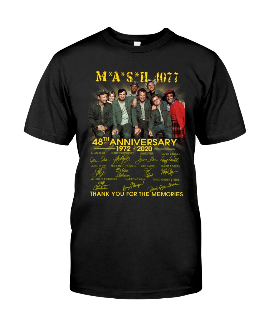 Mash 4077 48th anniversary thank you for the memories Unisex Cotton Tee