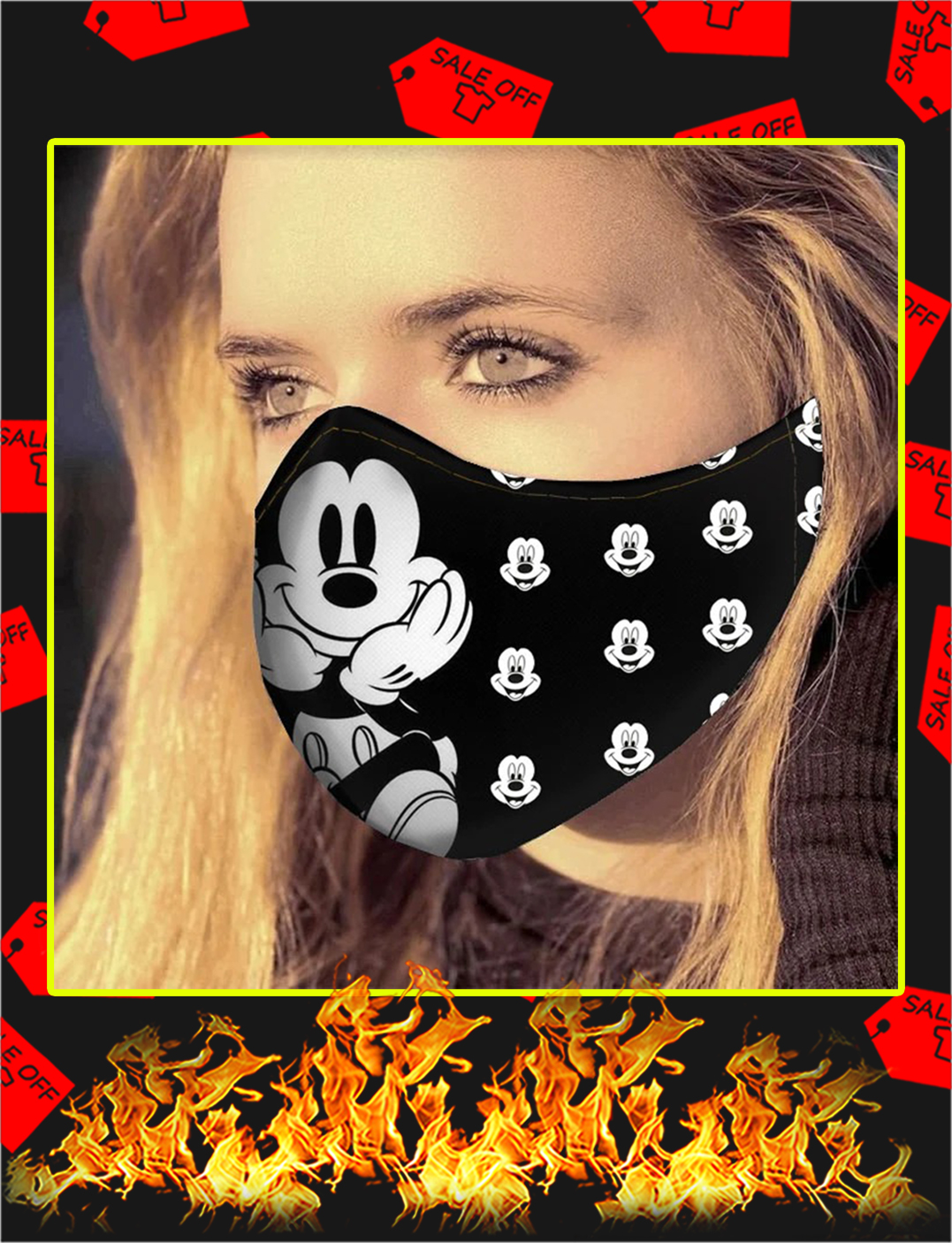 Mickey mouse face mask - pic 1