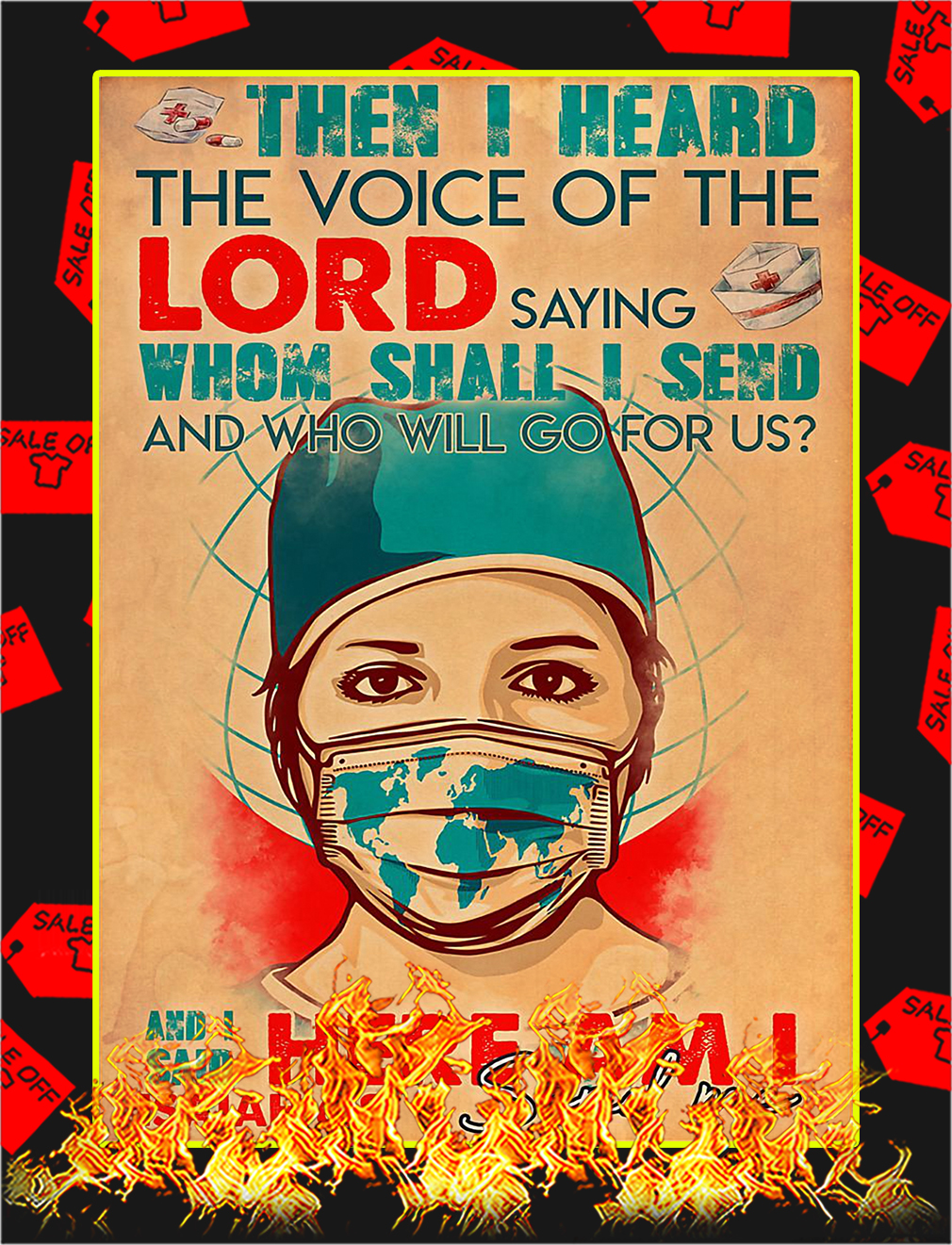 Nurse Lord send me poster - A3