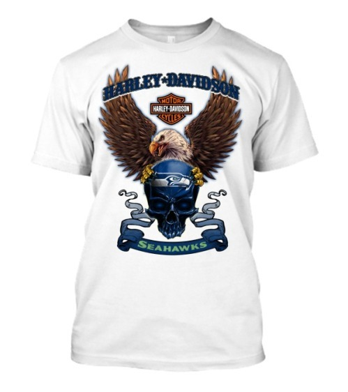 Seattle seahawks harley davidson shirt