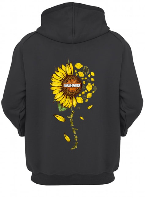 Sunflower you are my sunshine harley davidson hoodie back