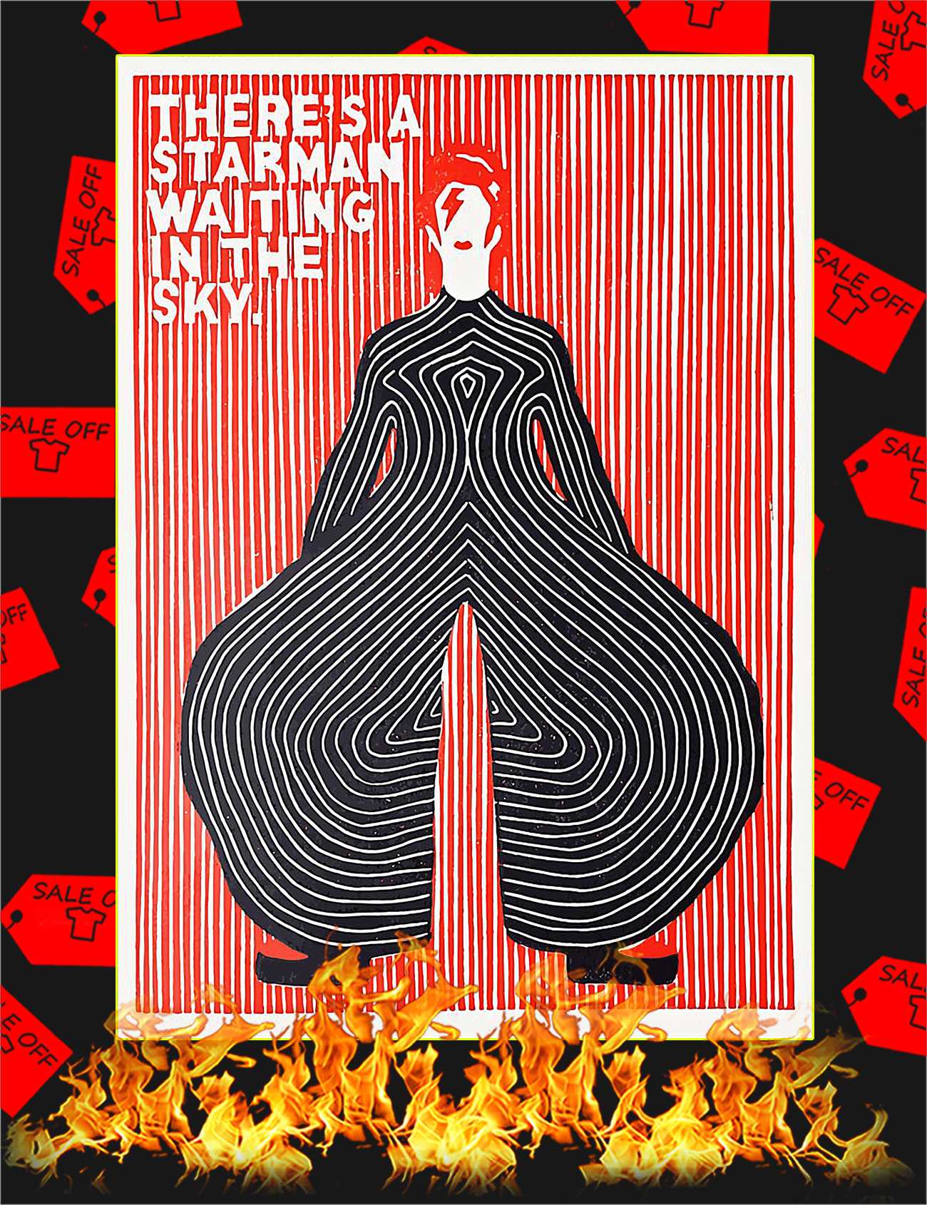 There's a starman waiting in the sky poster - A4