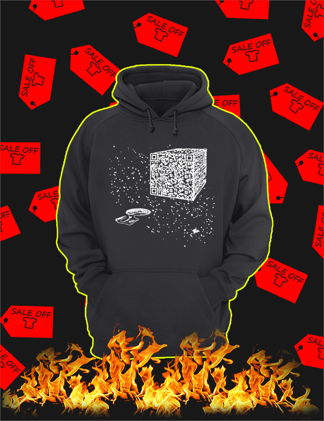 We are the borg cube QR code Hoodie