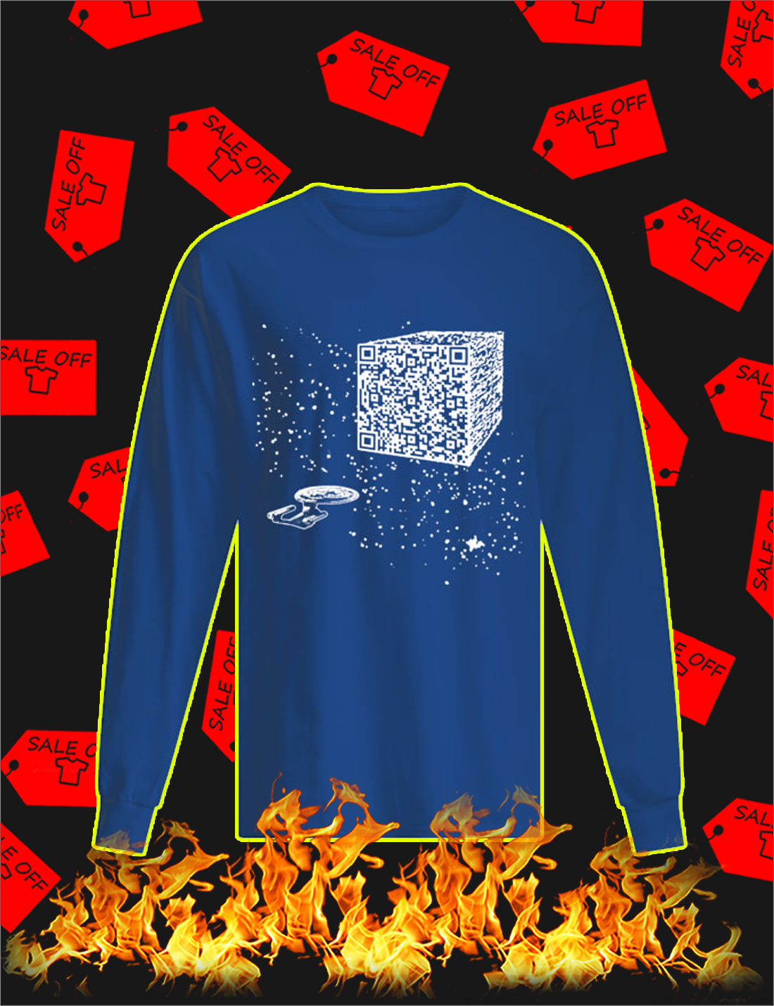 We are the borg cube QR code Long Sleeve Tee