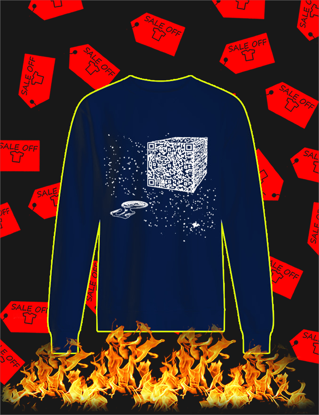 We are the borg cube QR code Sweatshirt
