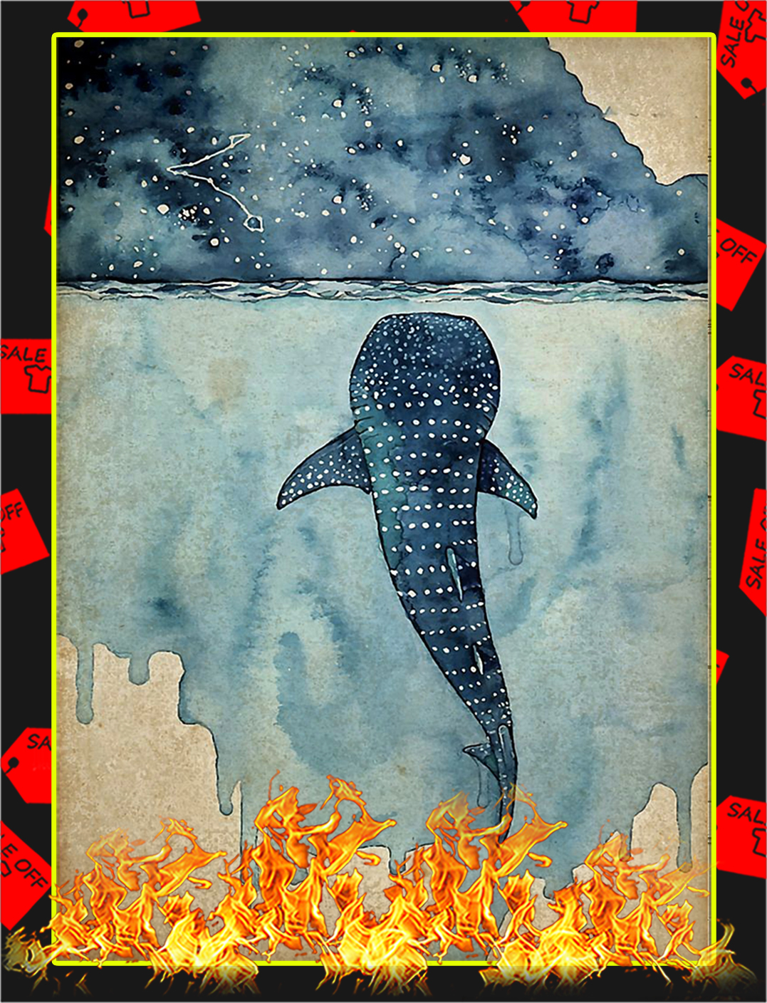 Whale shark poster - A1
