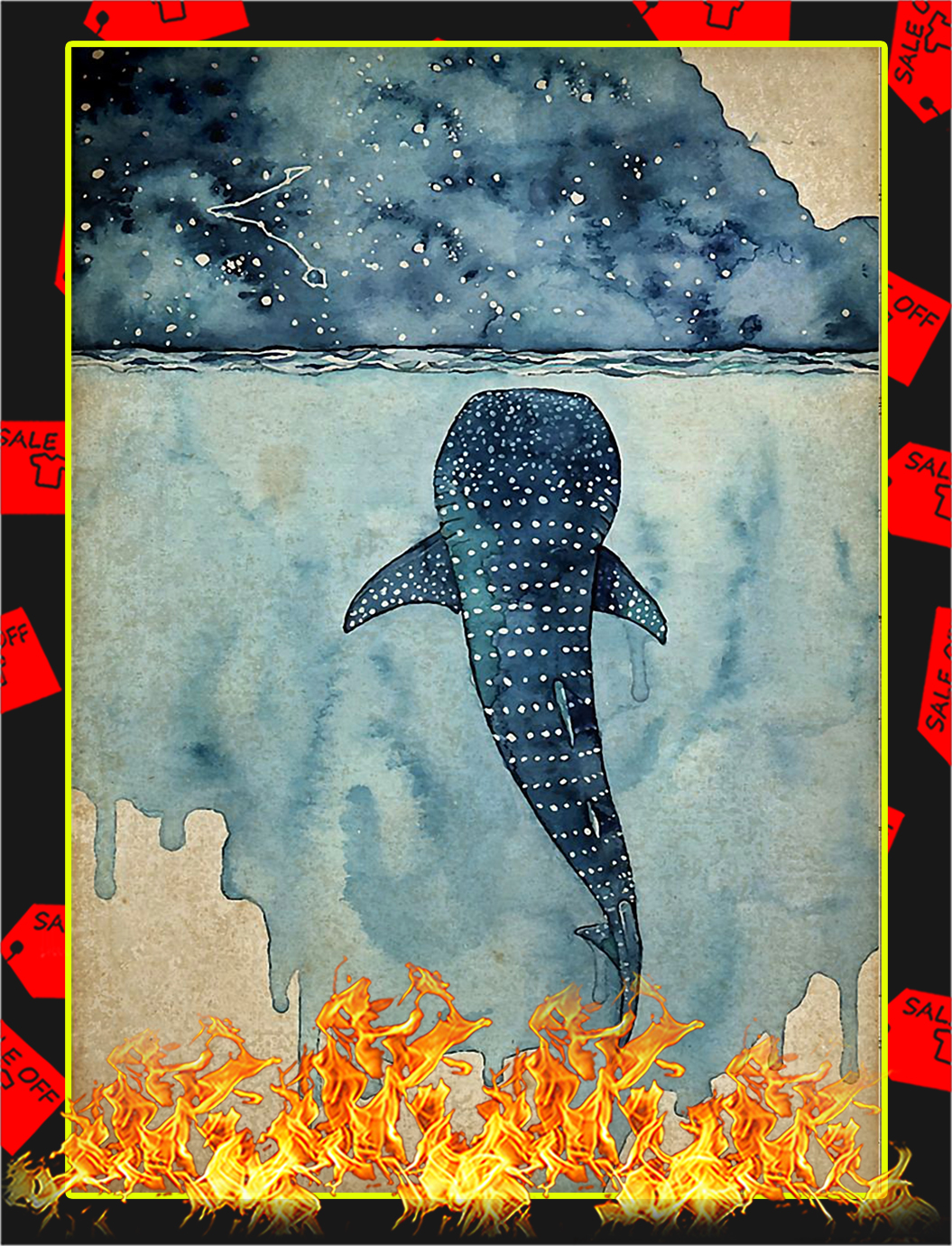Whale shark poster - A3