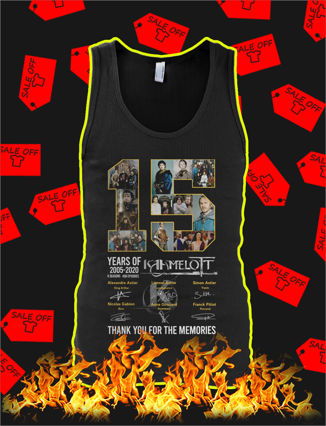 15 years of Kaamelott thank you for the memories tank top