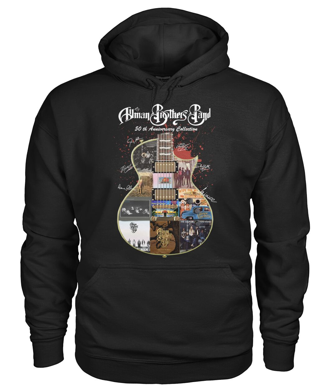 Allman brothers band 50th anniversary collection guitar signature hoodie