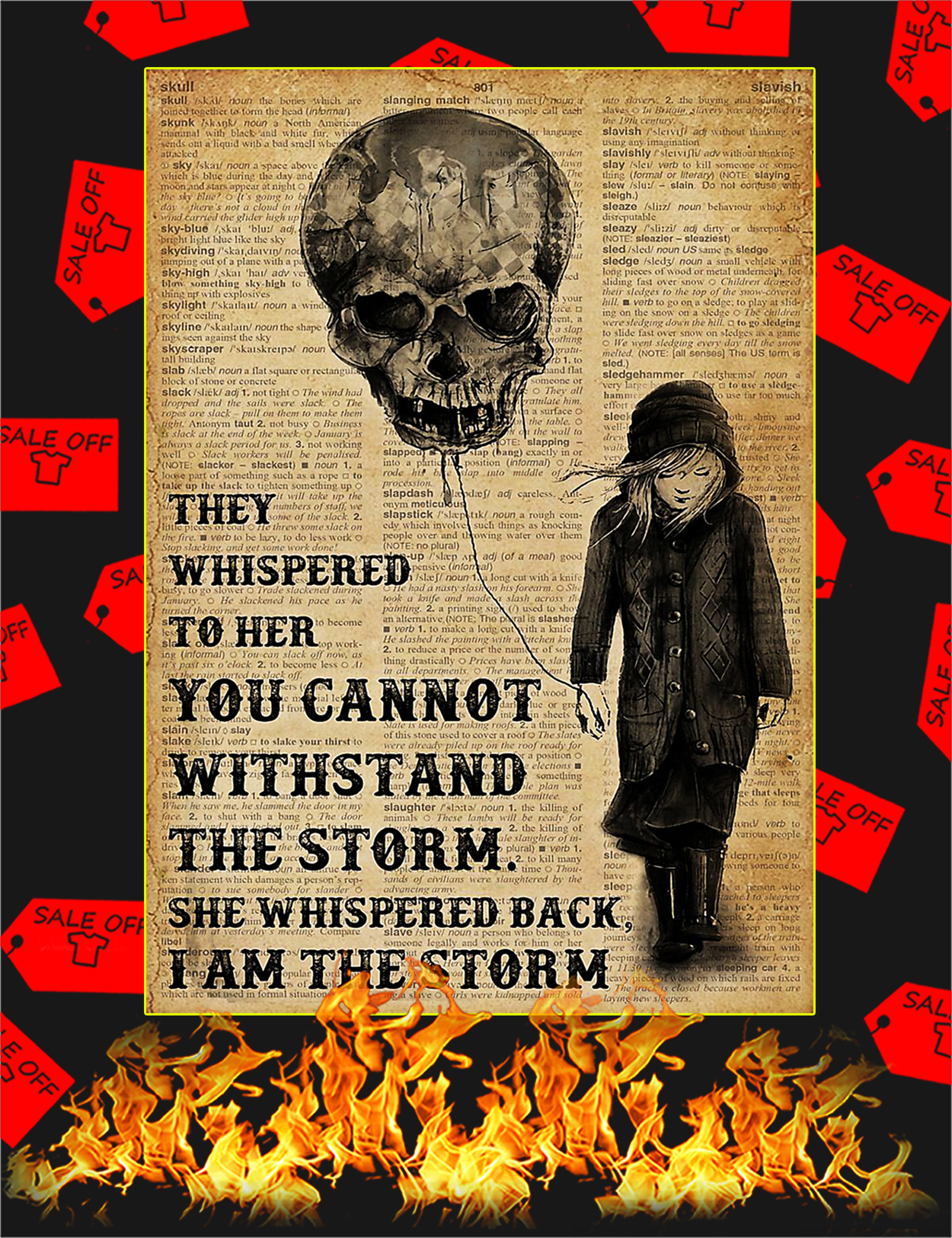 Balloon skull I am the storm poster - A3