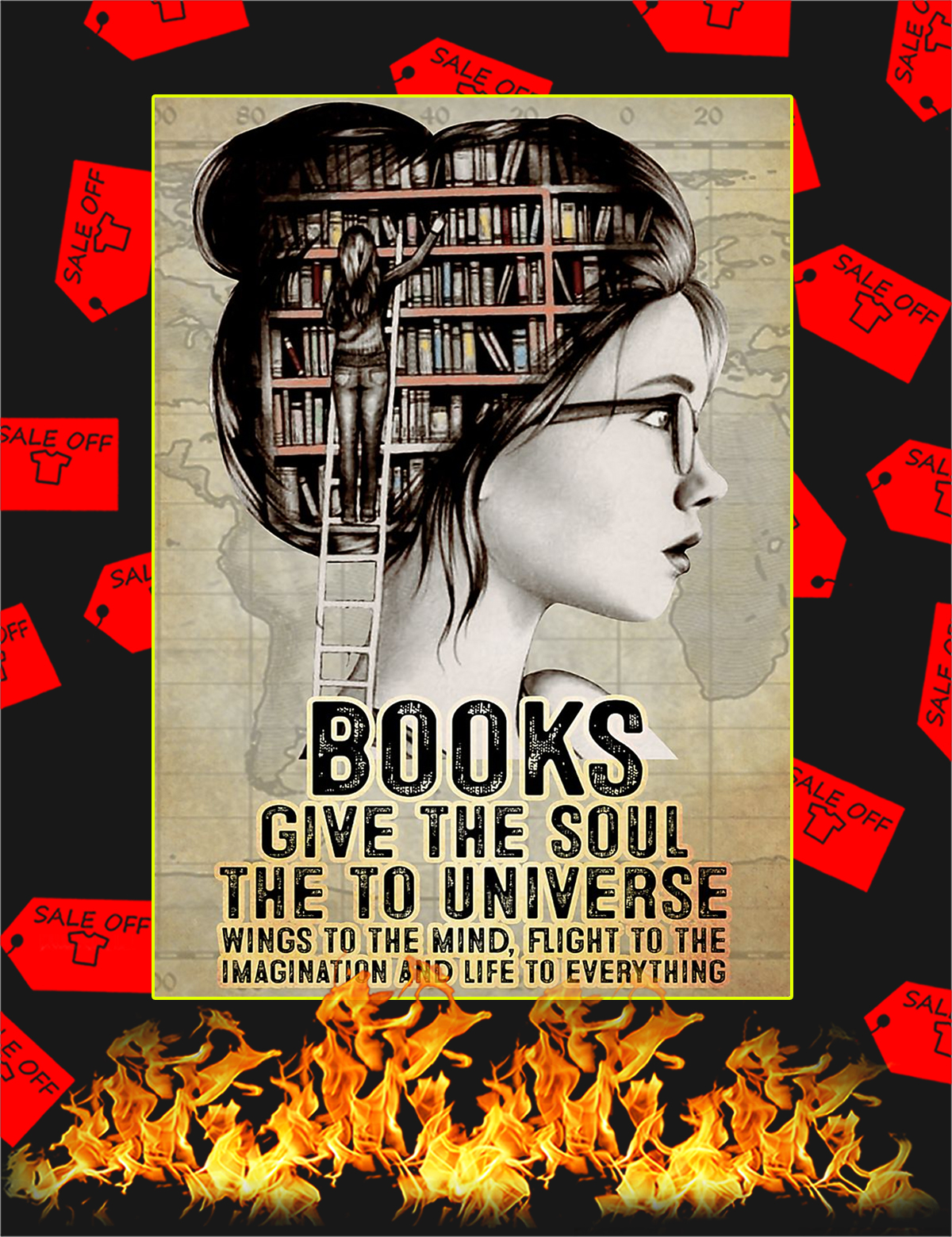 Books give the soul the to universe poster