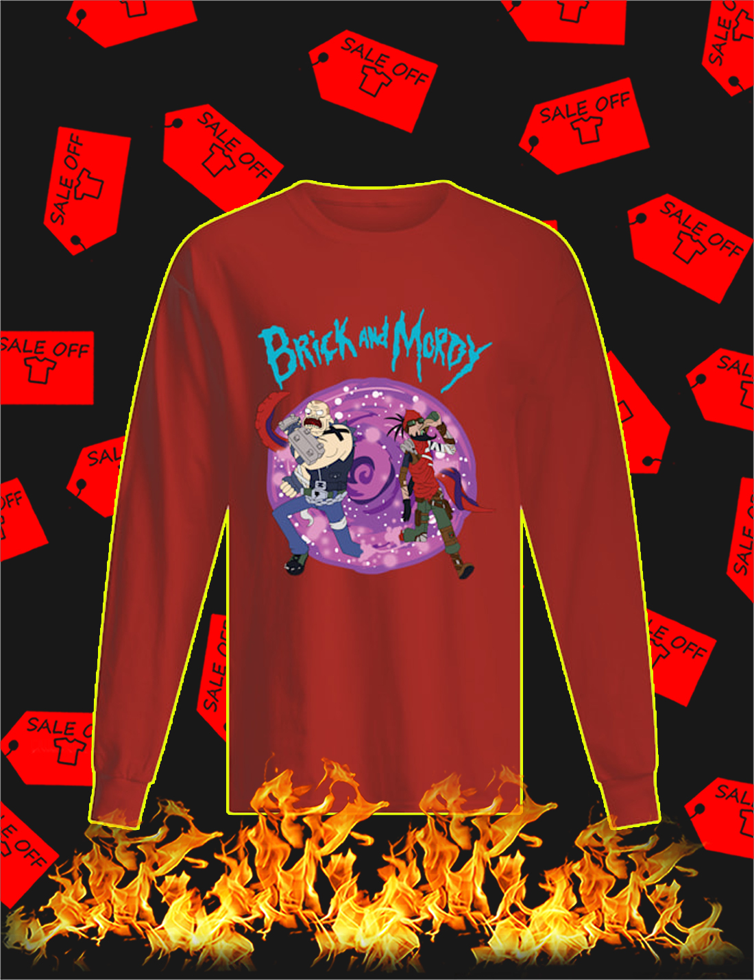 Brick and mordy Long Sleeve Tee