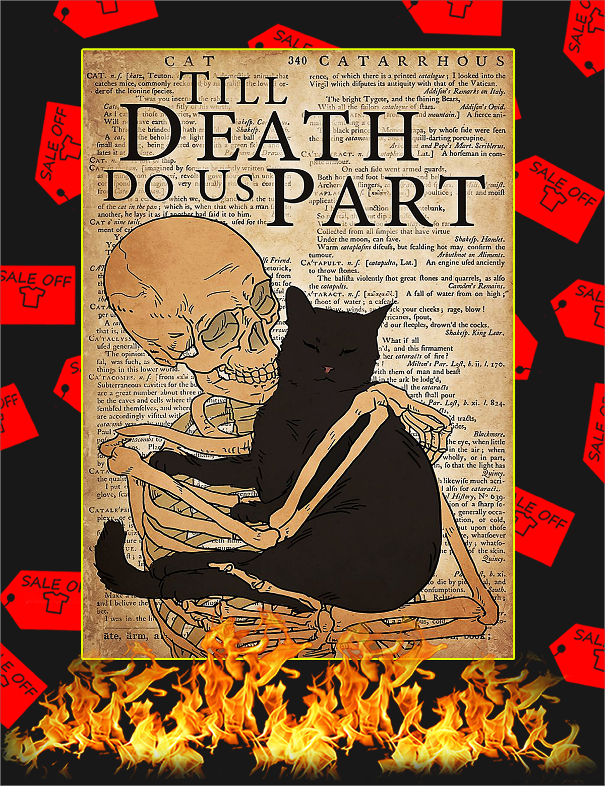Cat till death do us part poster - A4
