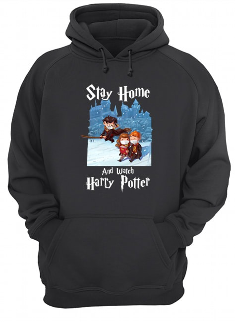 Covid 19 Stay home and watch harry potter hoodie