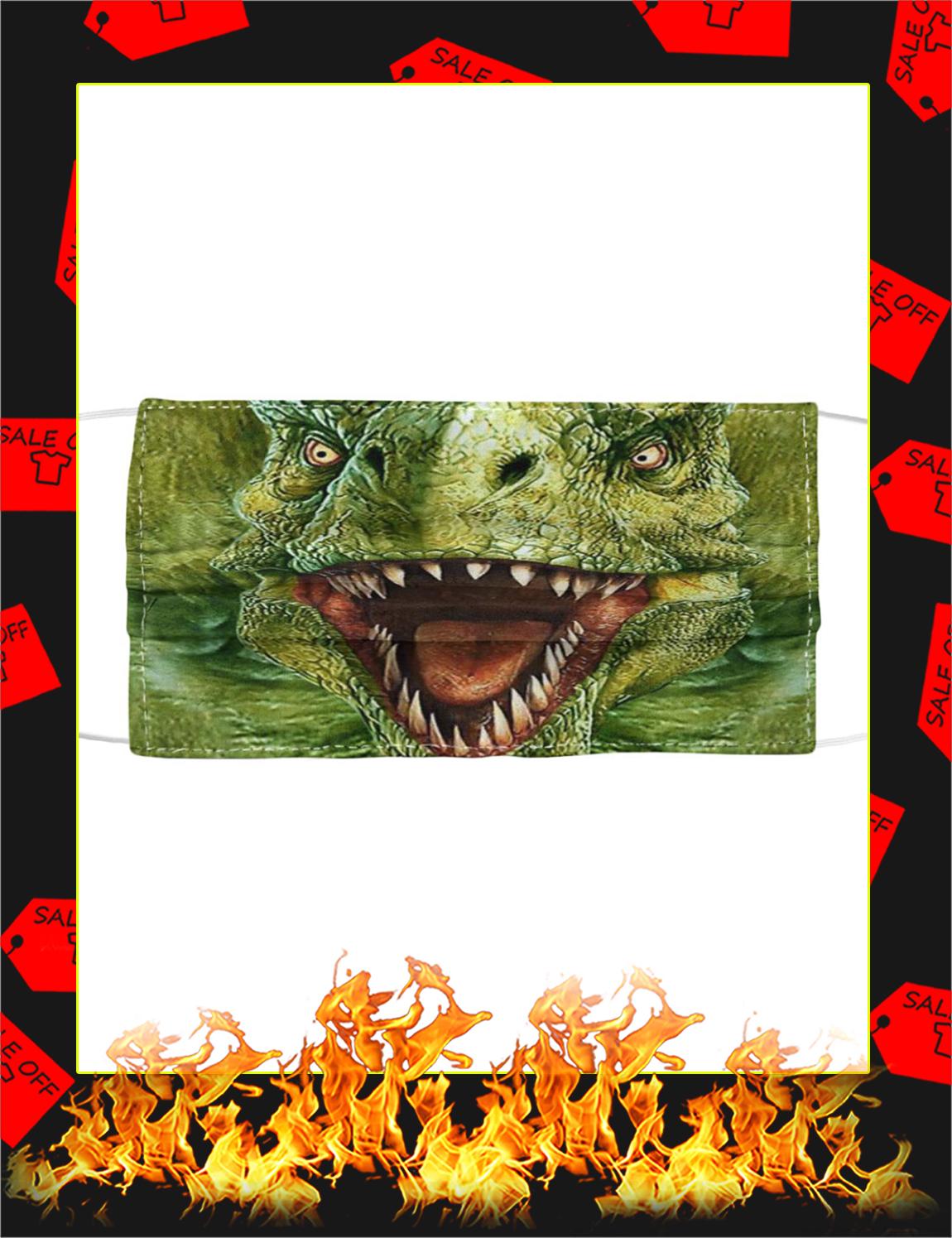 Dinosaur face mask - Picture 1
