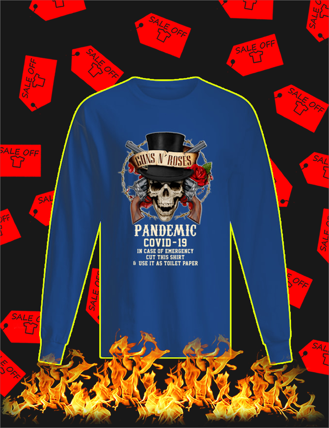 Guns n' rose pandemic covid 19 Long Sleeve Tee