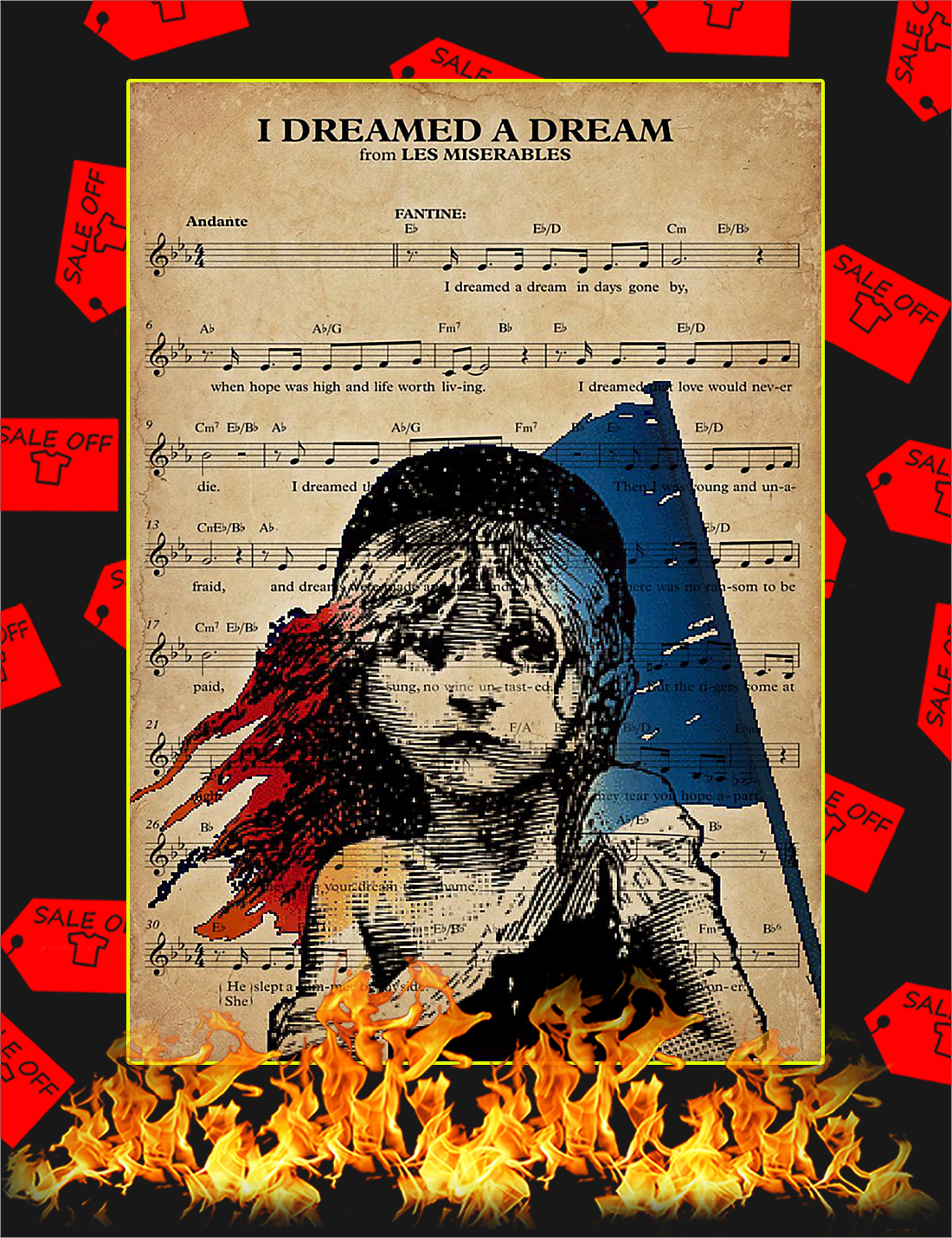 I dreamed a dream from les miserables poster