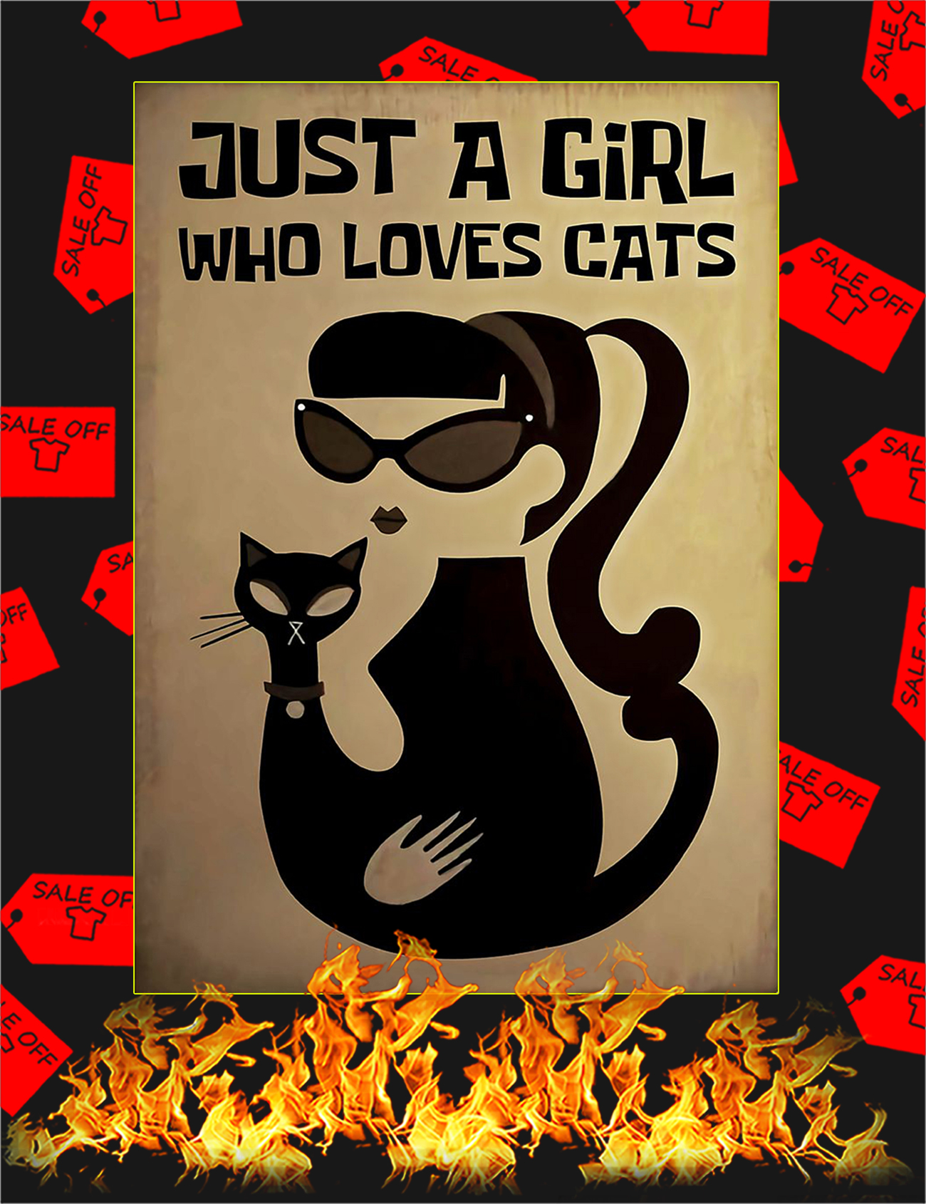 Just a girl who love cats poster - A1