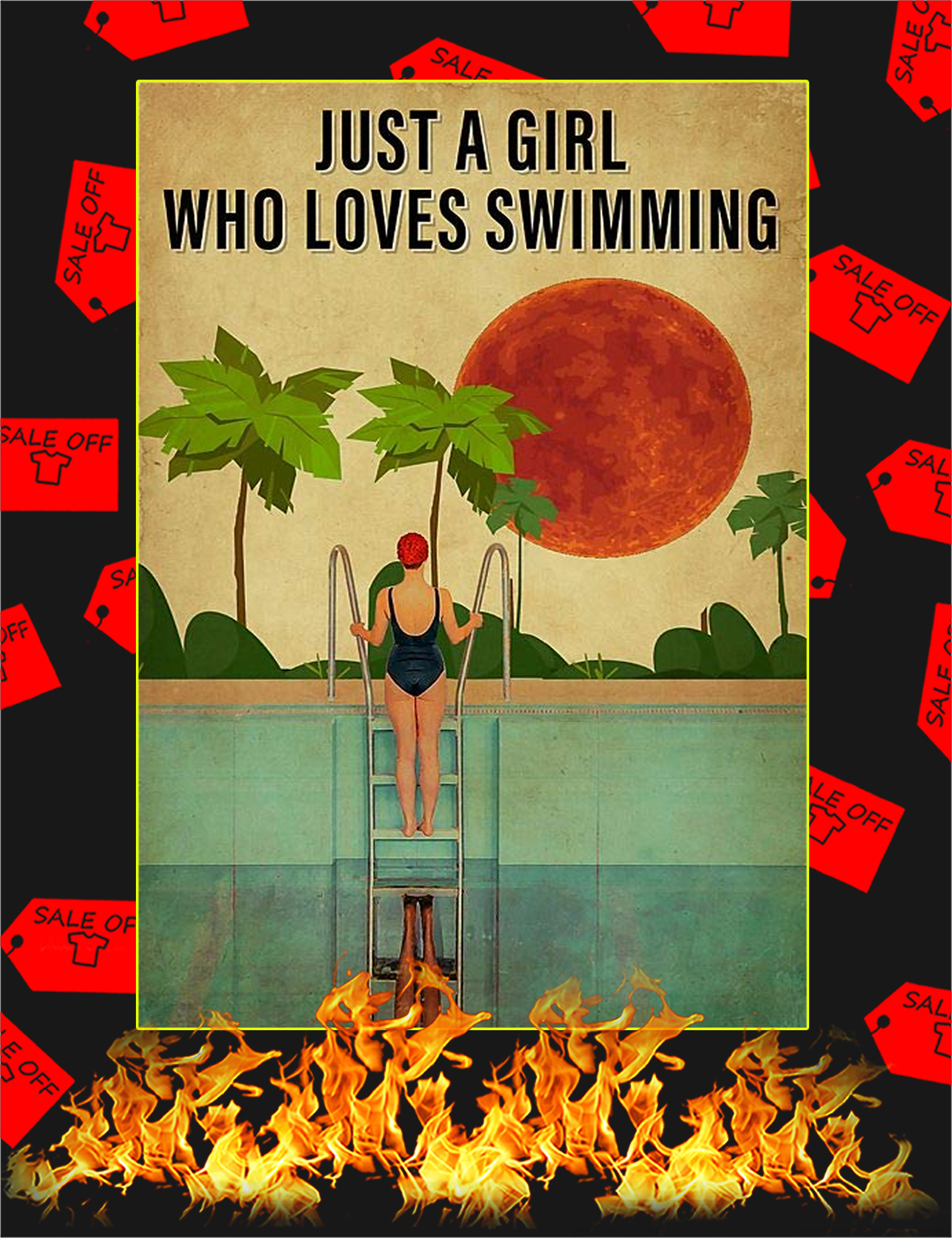 Just a girl who loves swimming poster