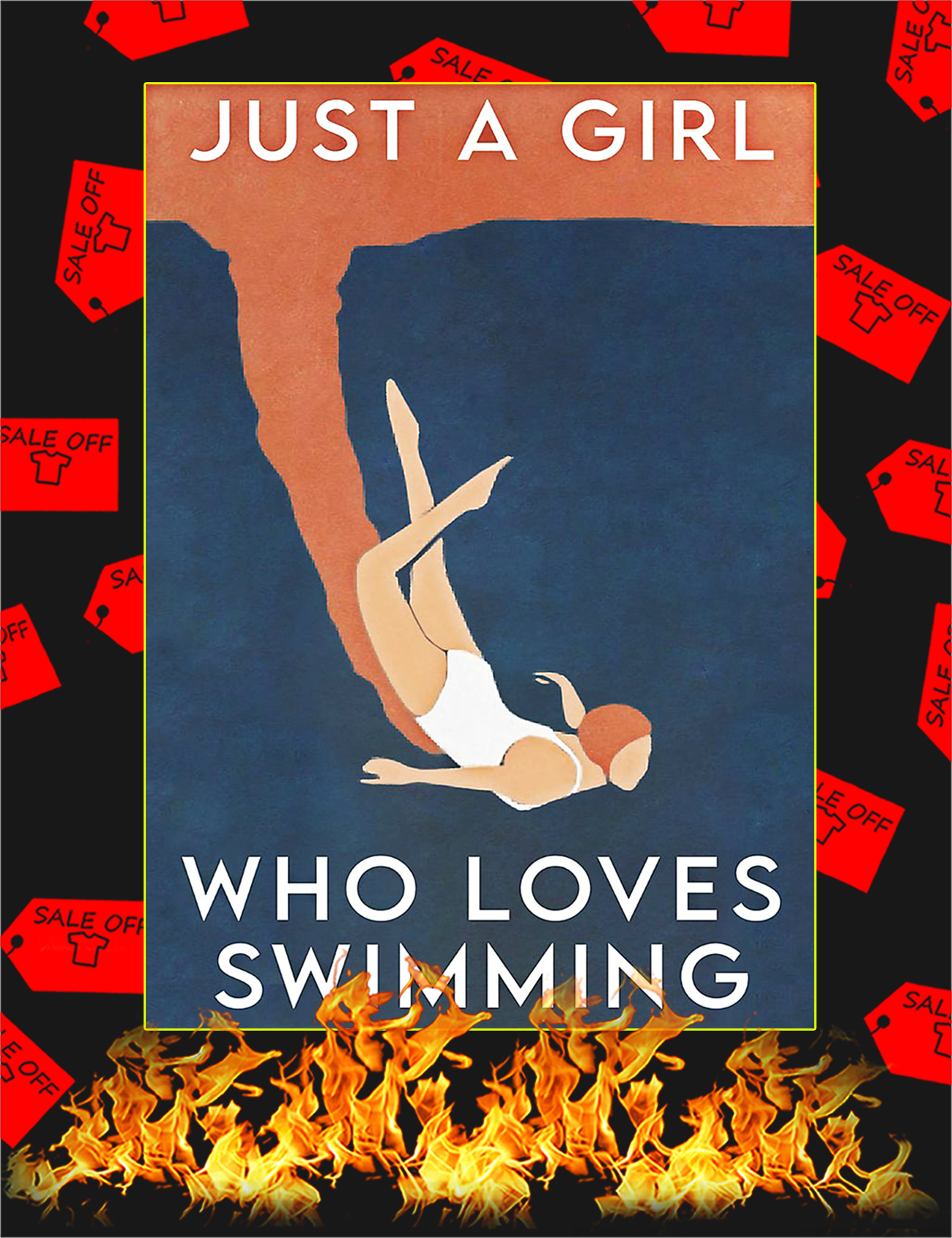 Just a girl who loves swimming poster - A1