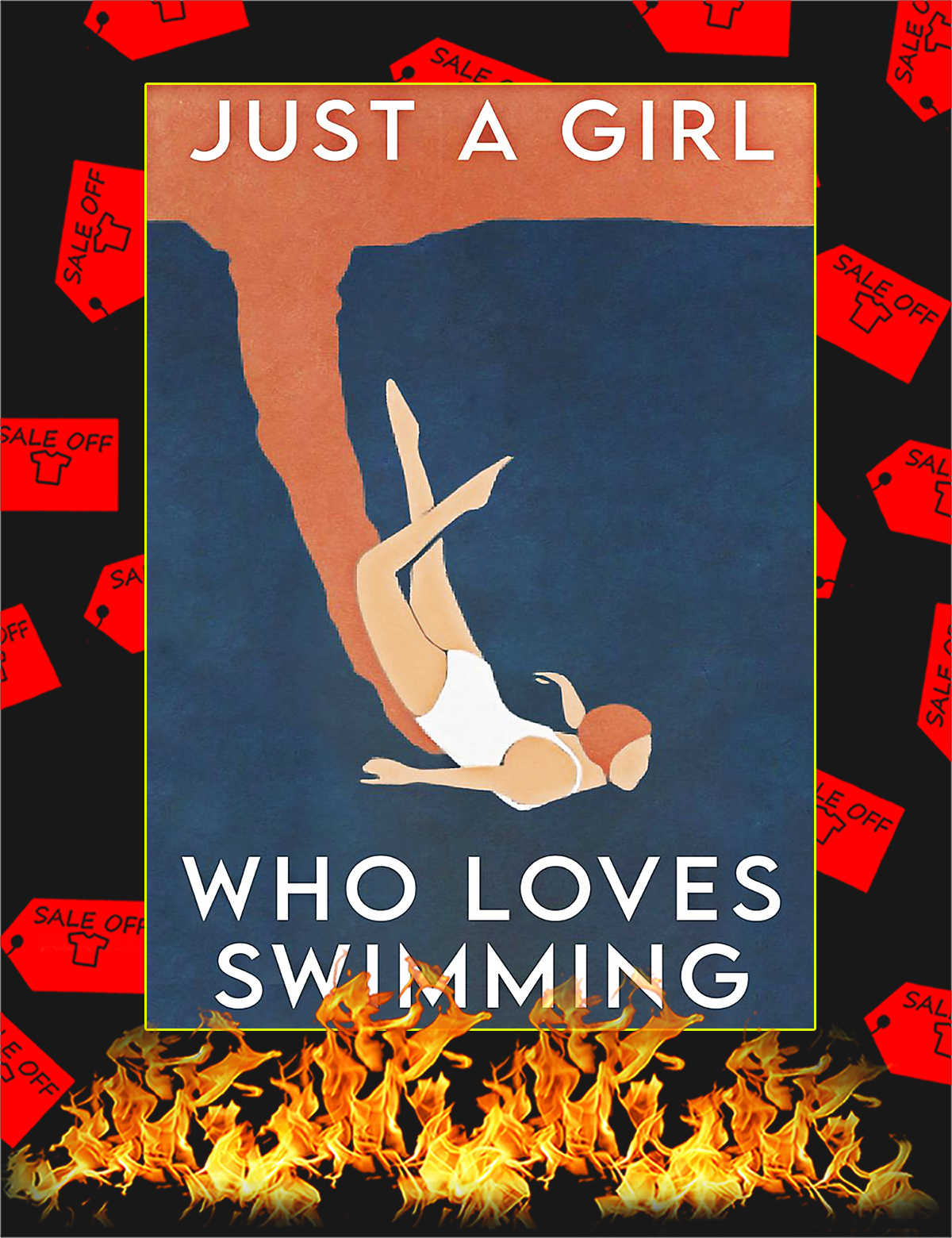 Just a girl who loves swimming poster - A4