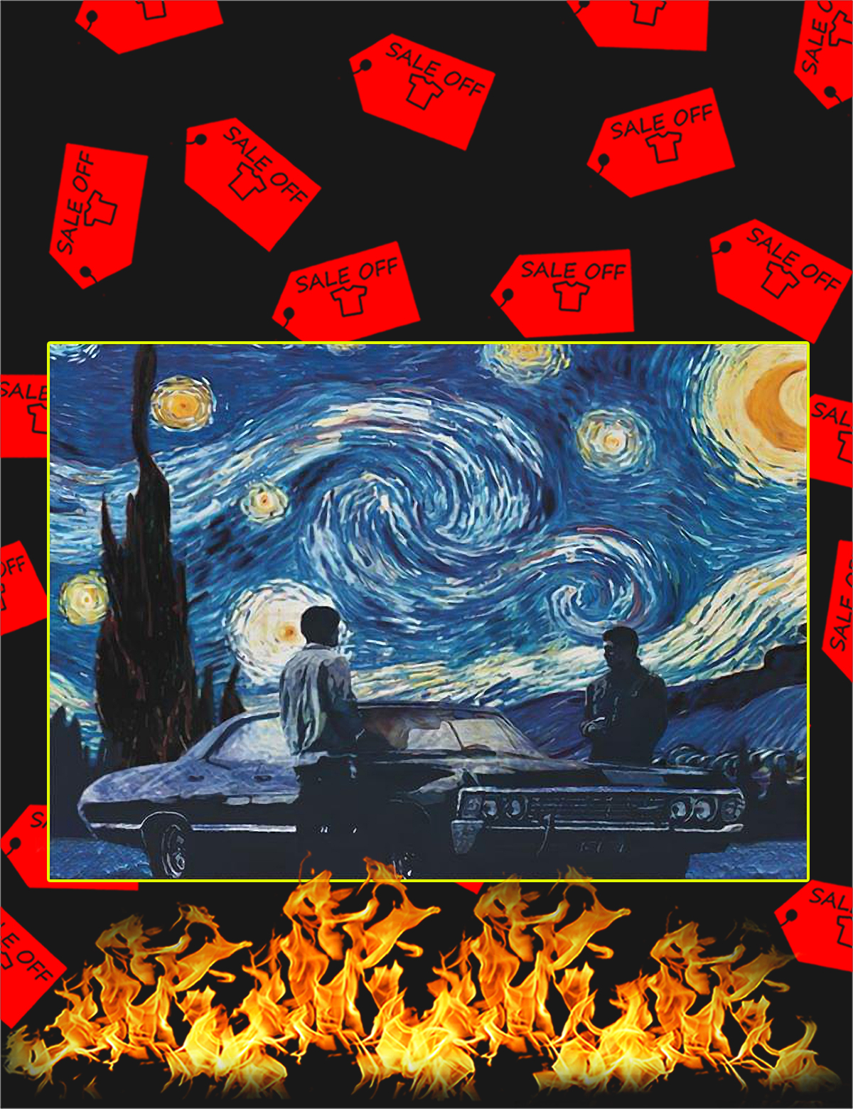 Poster Supernatural starry night - A4