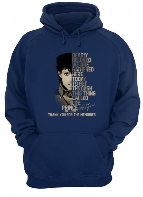 Prince thank you for the memories signature hoodie