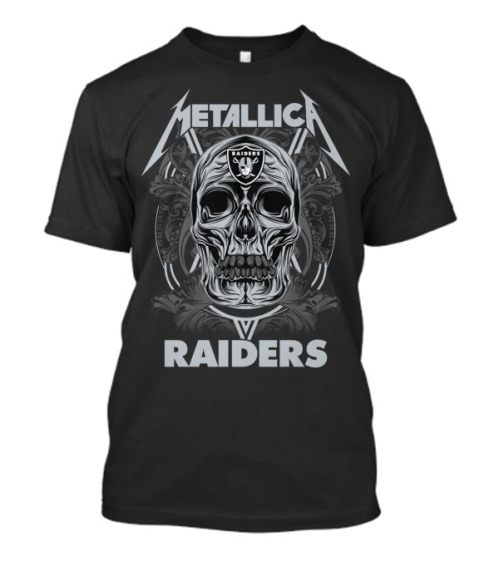 Skull metallica raiders shirt