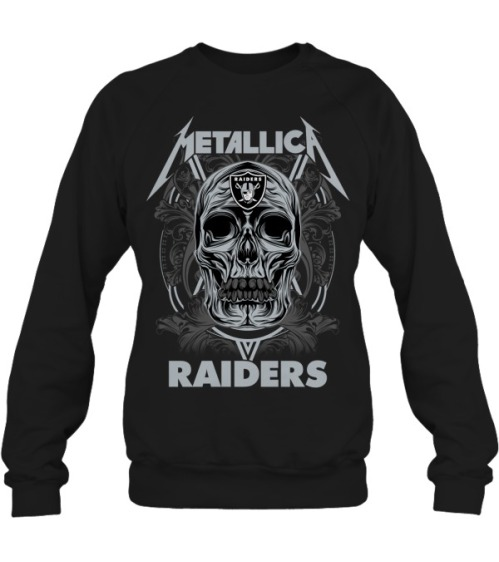 Skull metallica raiders sweatshirt