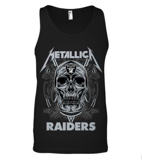 Skull metallica raiders tank top