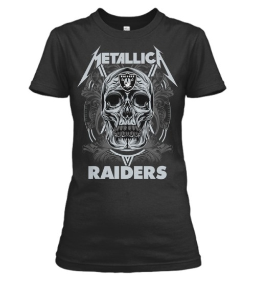 Skull metallica raiders women shirt