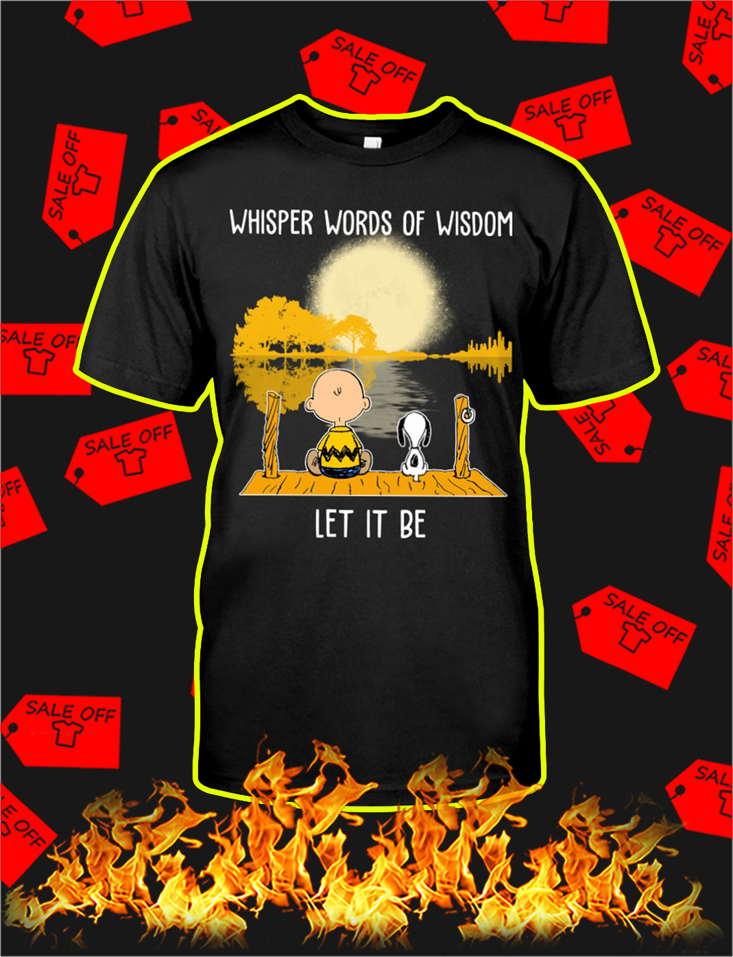 Snoopy and charlie brown Whisper words of wisdom let it be shirt