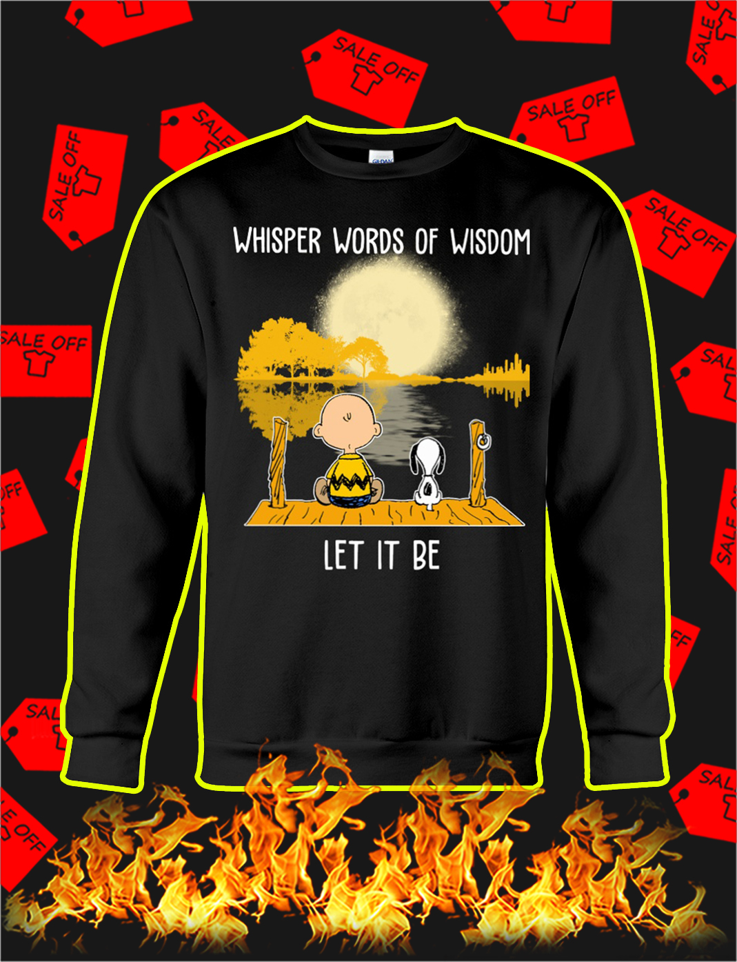 Snoopy and charlie brown Whisper words of wisdom let it be sweatshirt