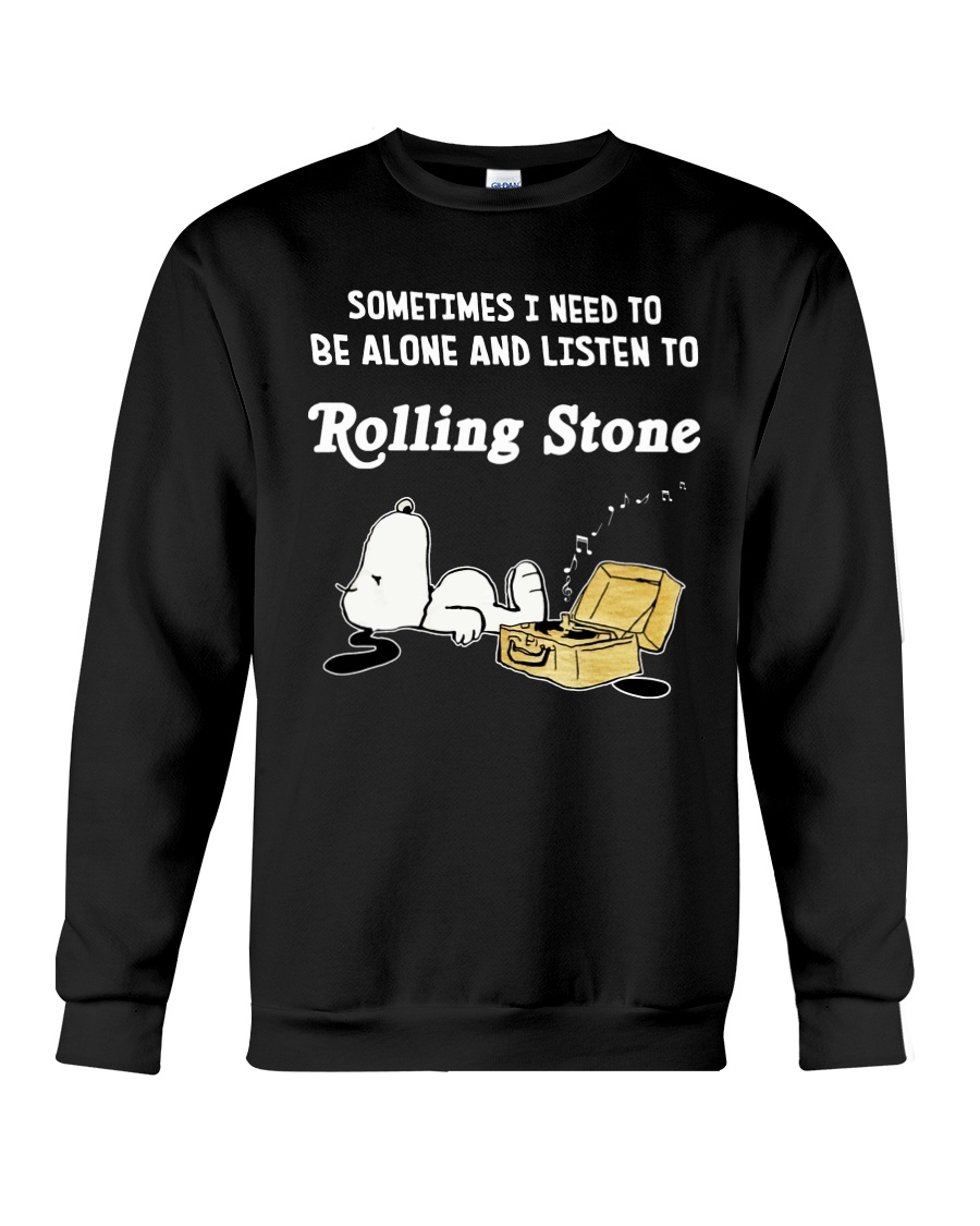 Snoopy sometimes I need to be alone and listen to rolling stone