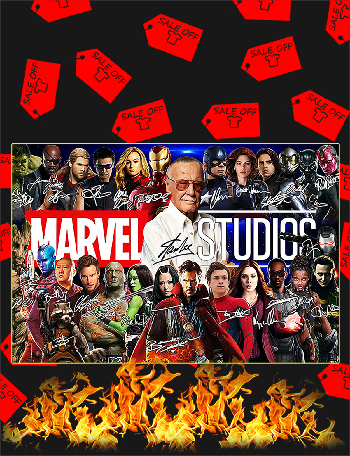Stan lee marvel studios poster - A1