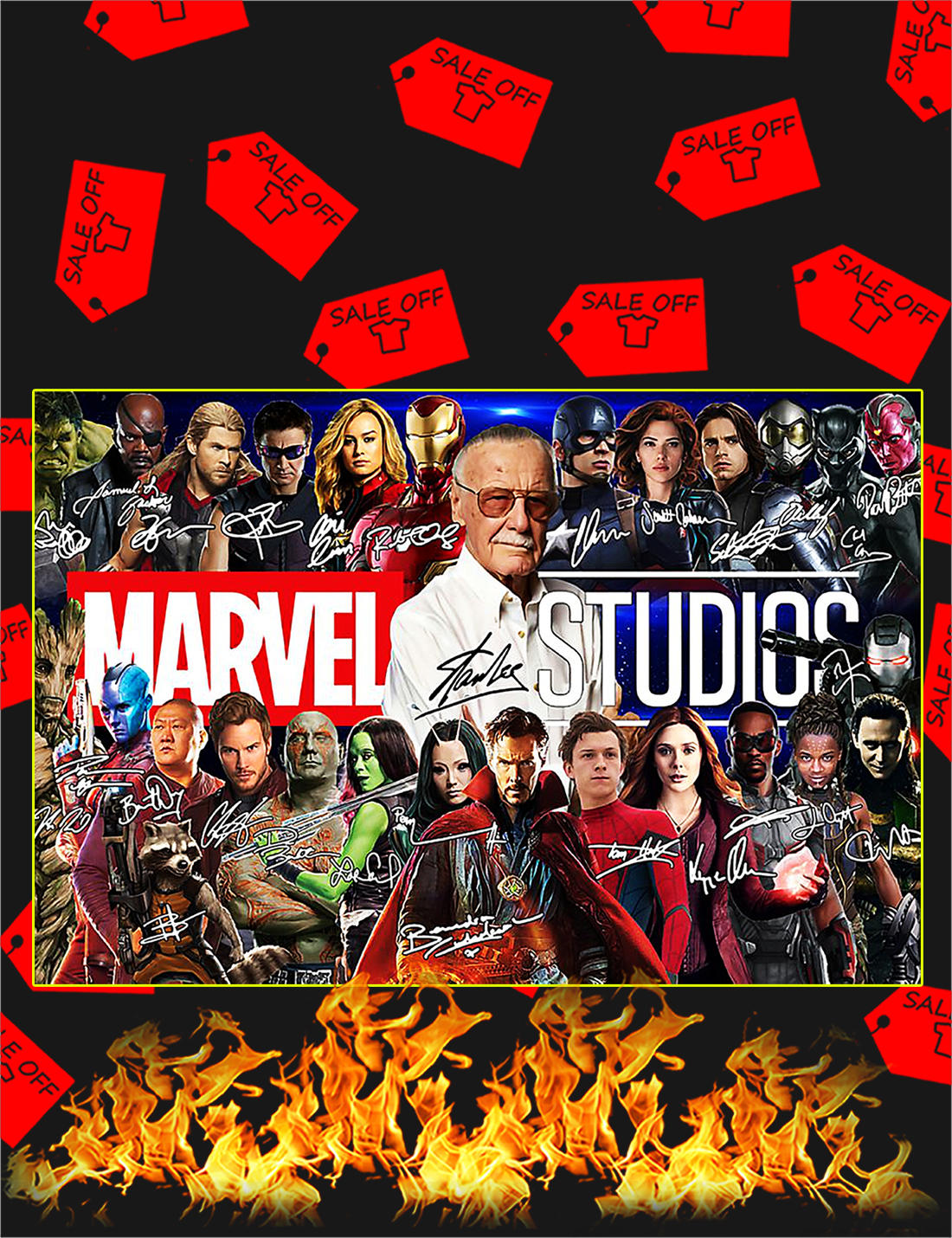 Stan lee marvel studios poster - A4