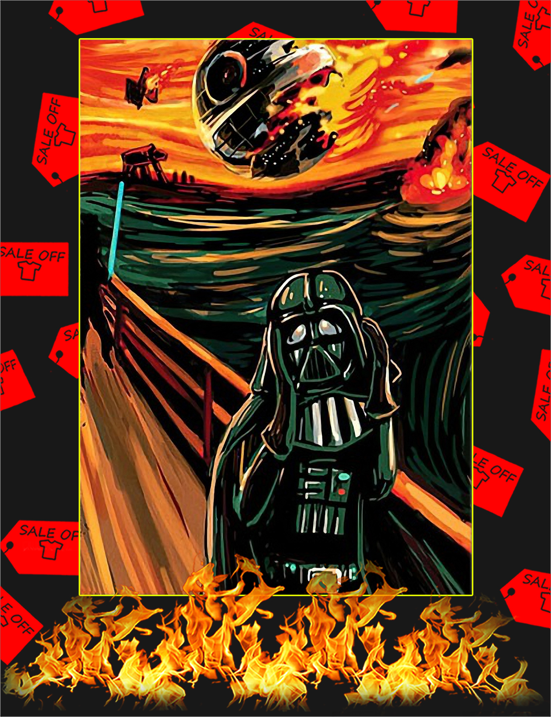 Star Wars The Vader Scream Poster - A4
