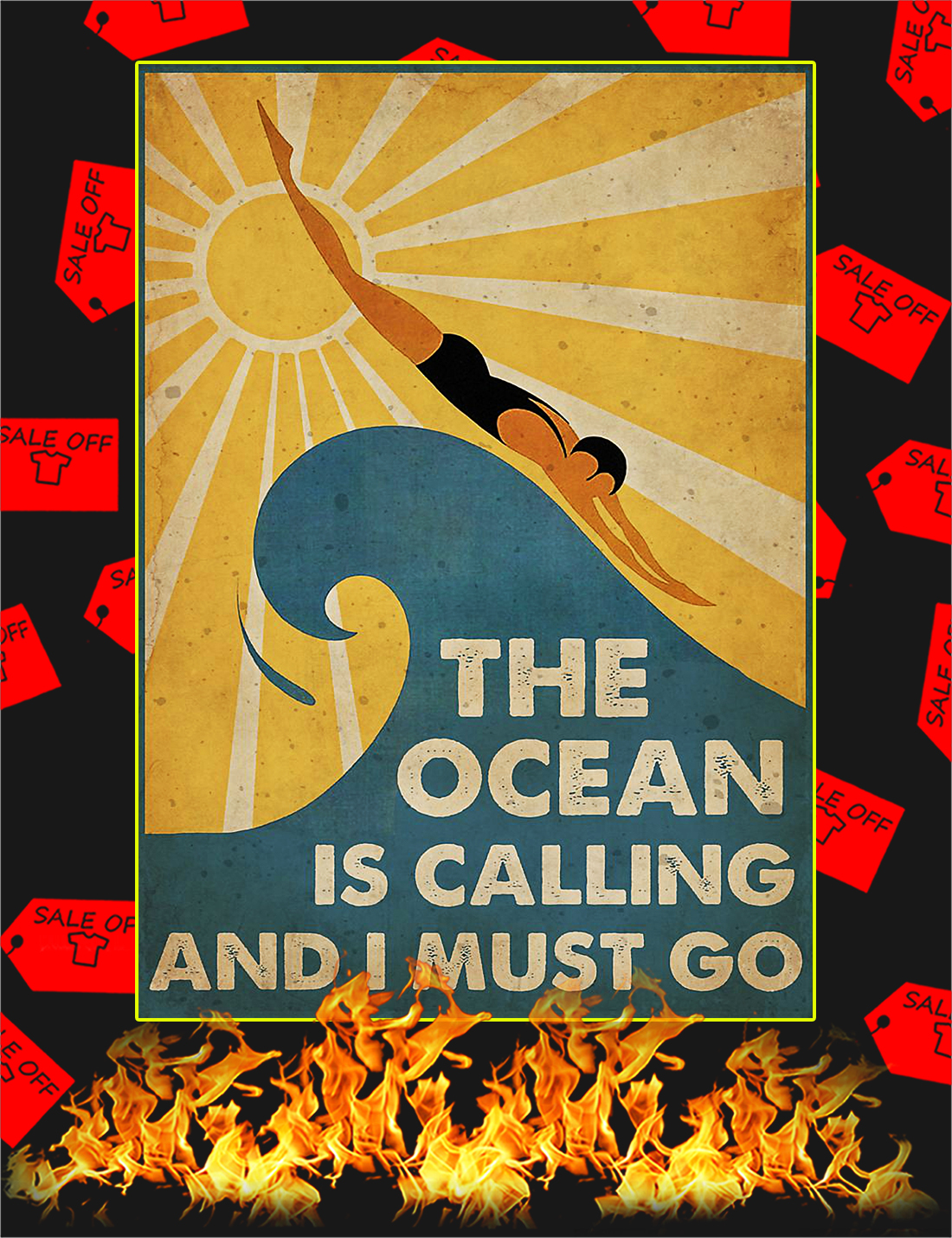 Swimming The Ocean Is Calling And I Must Go Poster