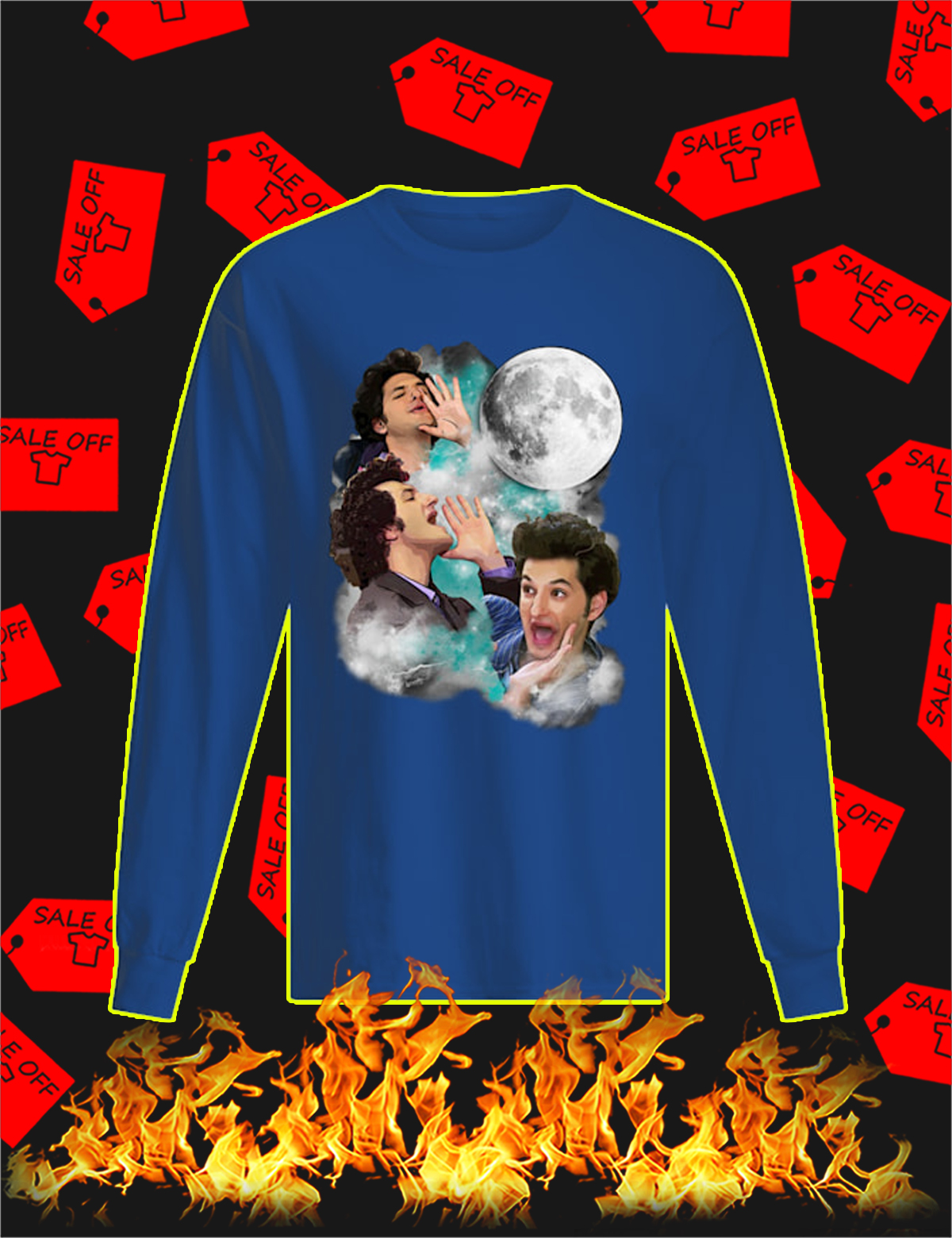The woooorst jean ralphio three moon Long Sleeve Tee