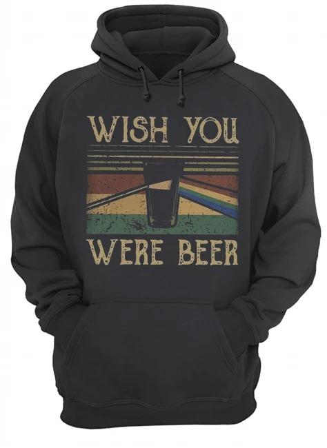 Wish you were beer pink floyd vintage hoodie