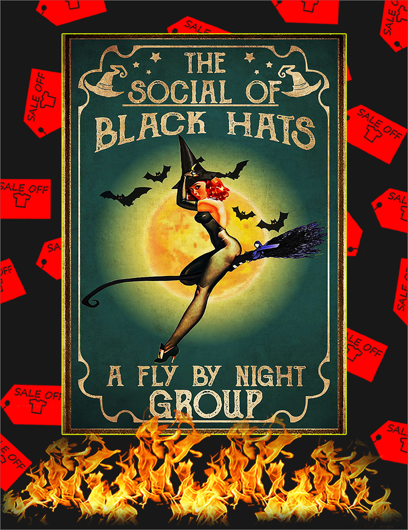 Witch The social of black hats poster - A1