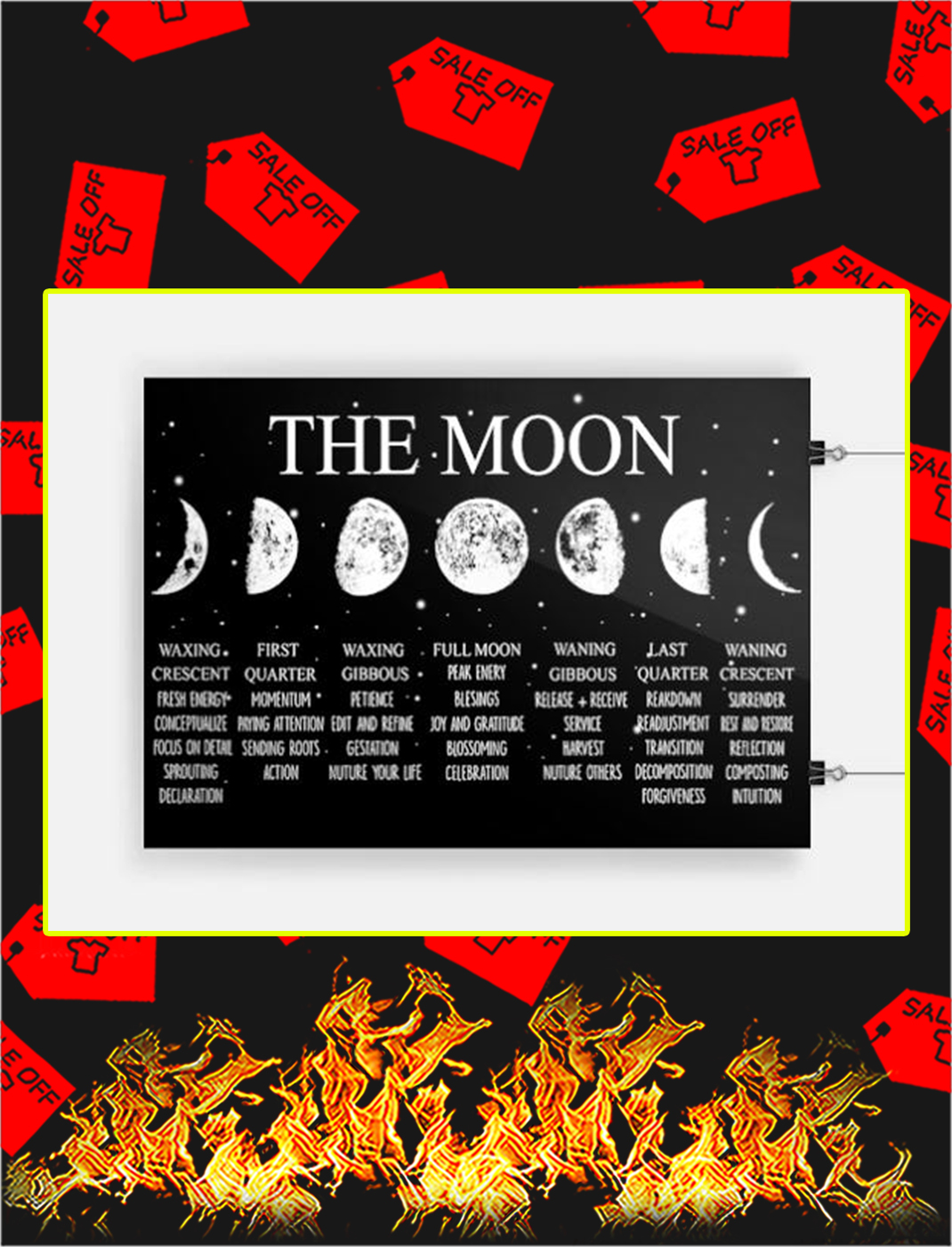 Witch the moon poster - A3