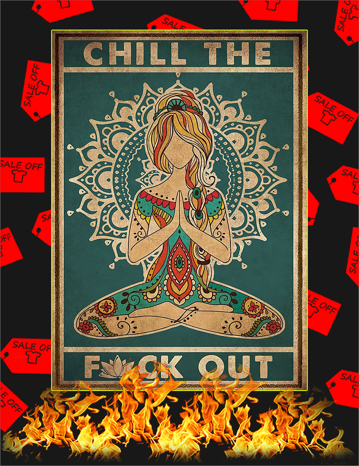 Yoga Chill the fuck out poster - A1