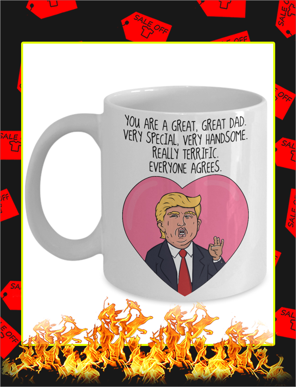 You are great great dad trump father's day mug-15 oz