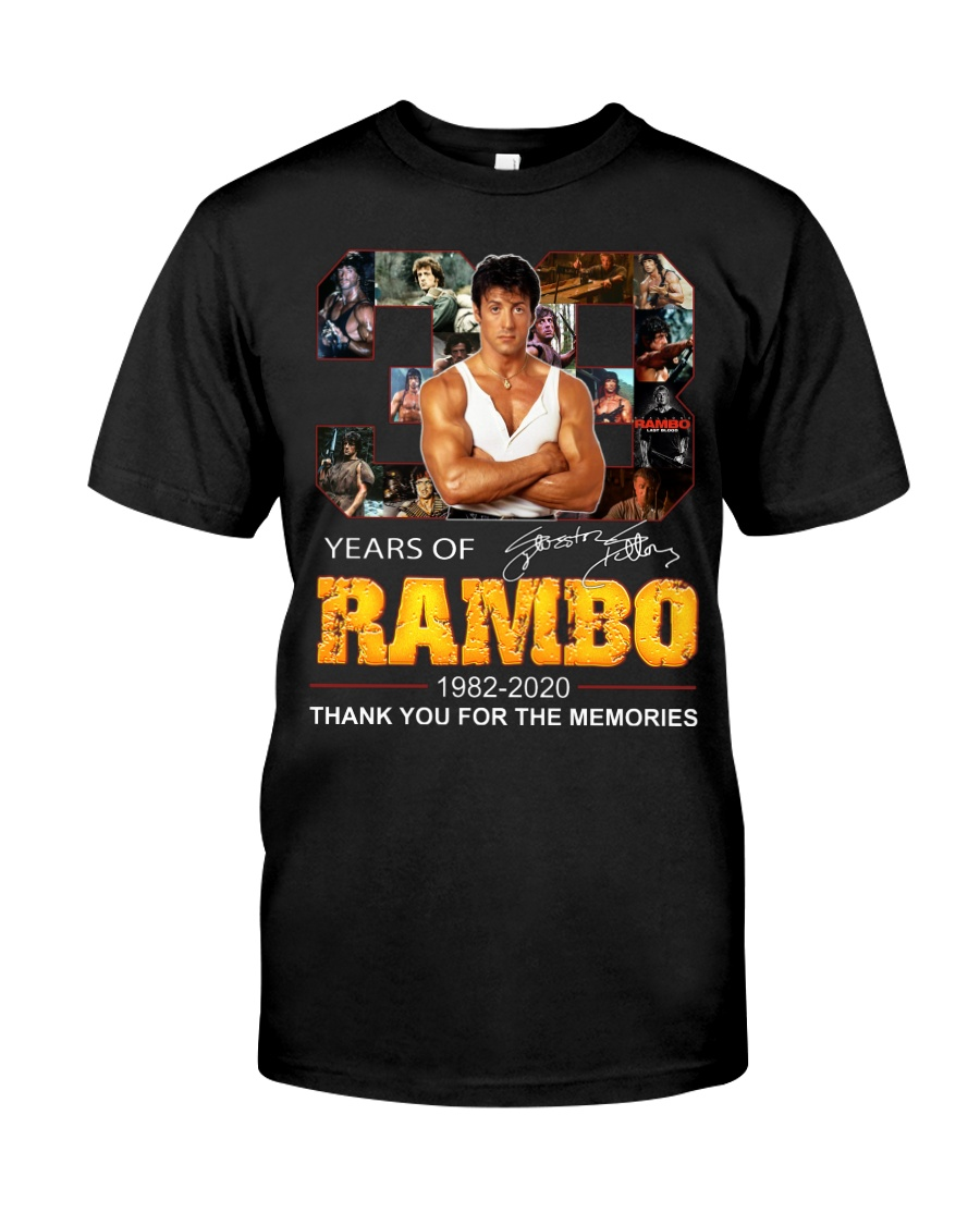 38 years of rambo thank you for the memories shirt