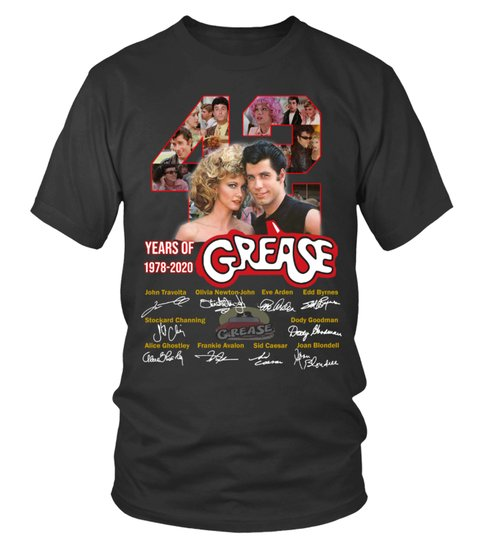 42 years of grease 1978 2020 signature shirt