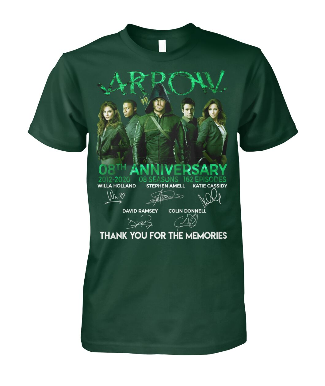 Arrow 8th anniversary thank you for the memories shirt