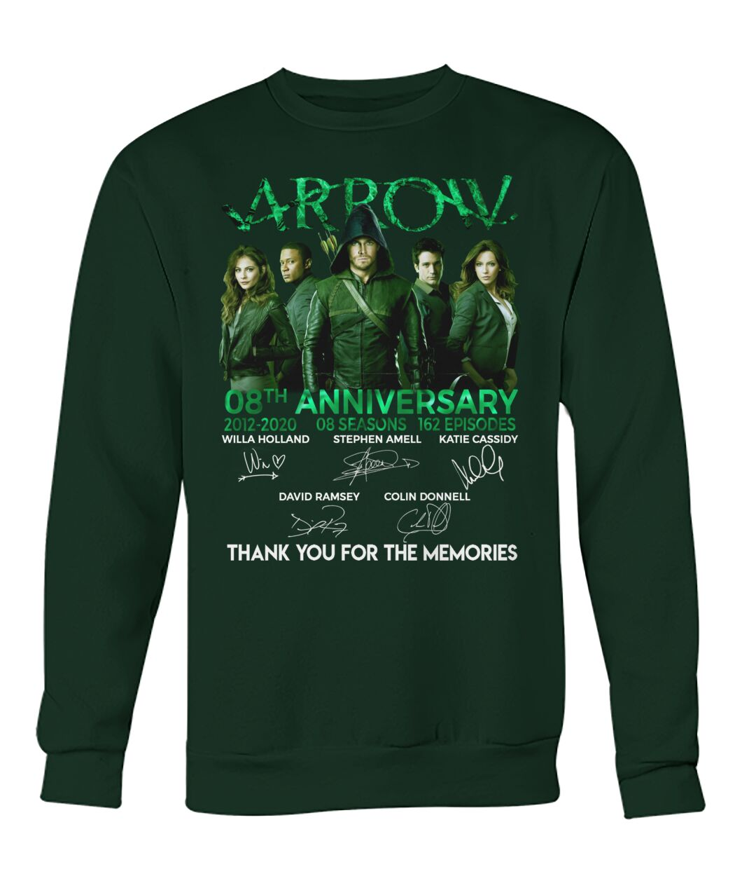 Arrow 8th anniversary thank you for the memories
