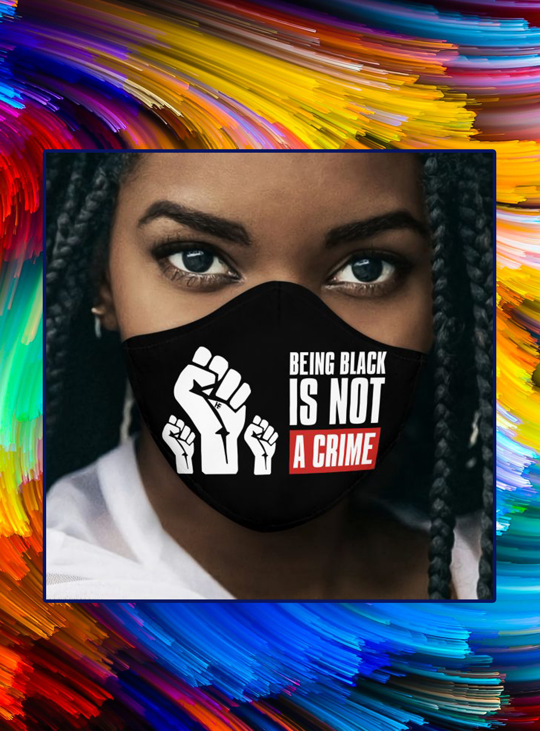 Being Black Is Not A Crime face mask - Picture 1